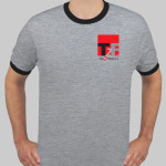 T2F Men's Ringer T (embroidered)