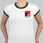 T2F Women's Ringer T (embroidered)